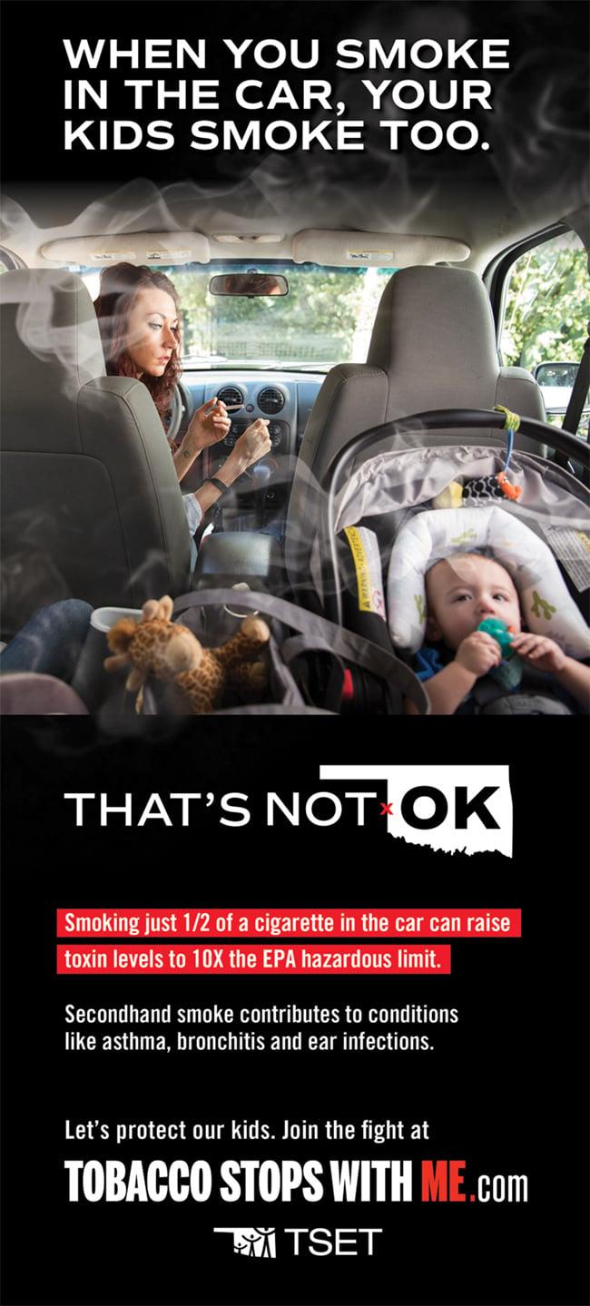 4b-26248 - TSET-19-02 Not OK Kids in Cars Print Ad-Black Chronicle-F
