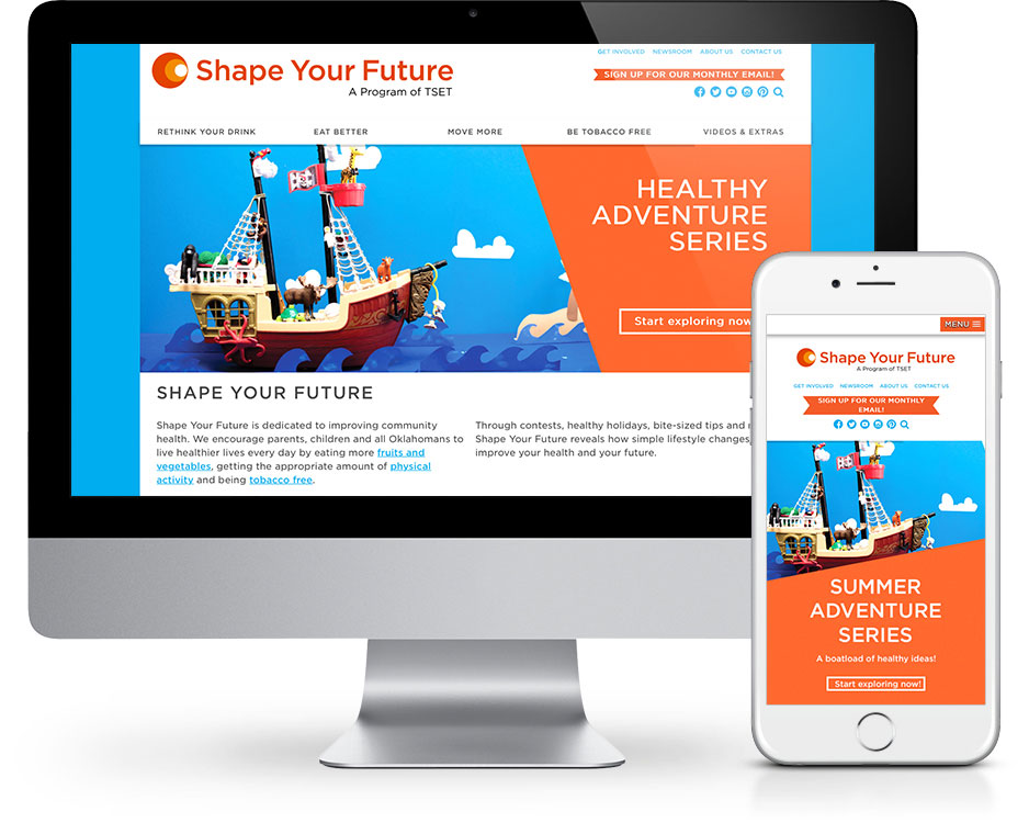 Shape Your Future OK Website Redesign