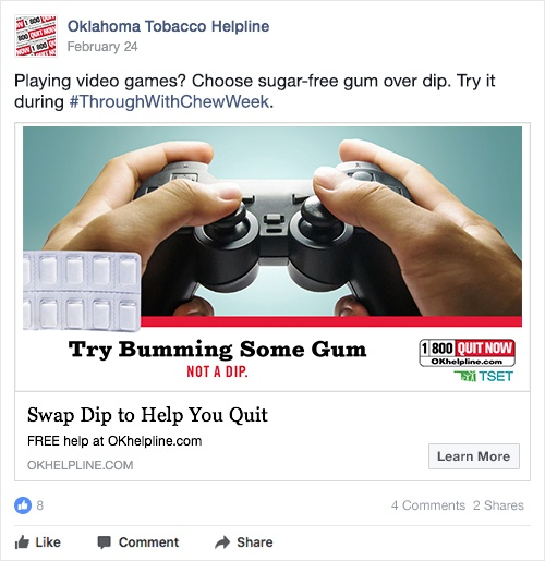 try bumming some gum