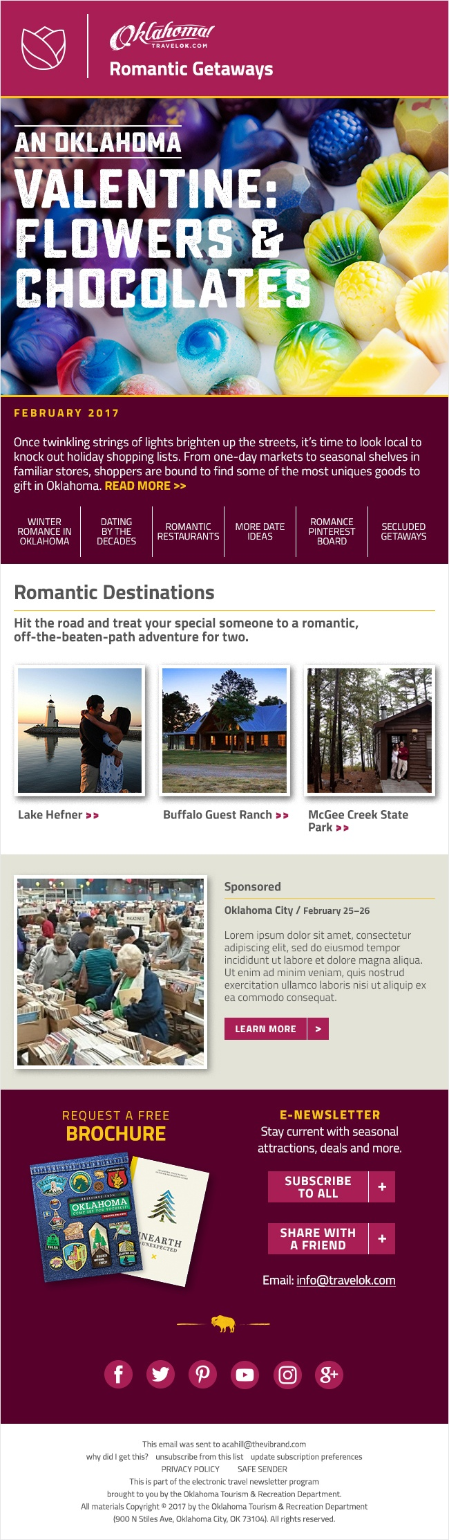 Romantic Getaway Newsletter