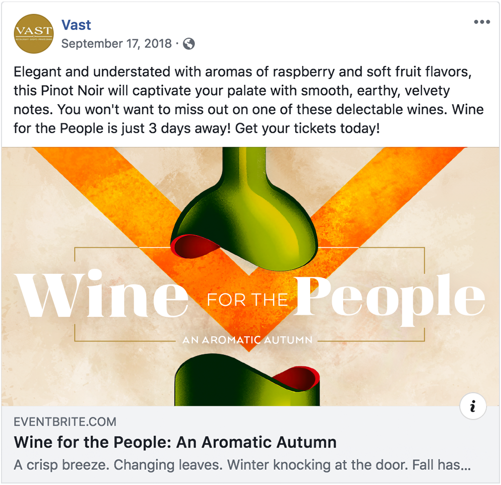 Wine for the People - Facebook Post