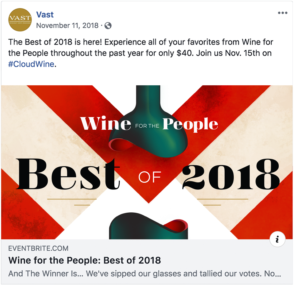 Wine for the People - Best of 2018 Facebook Post