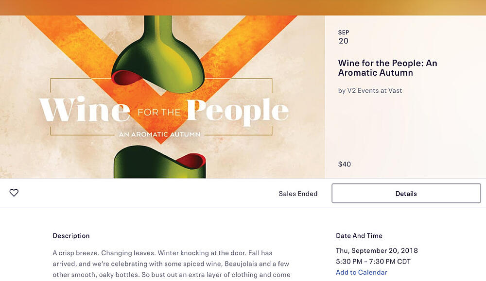Wine for the People - Event Page