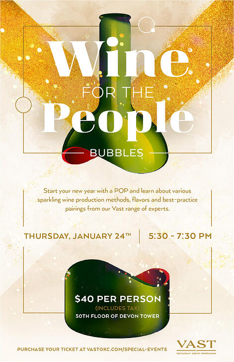 Wine for the People - Bubbles Poster