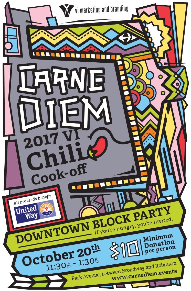 Our work: Carne Diem promotional flyer