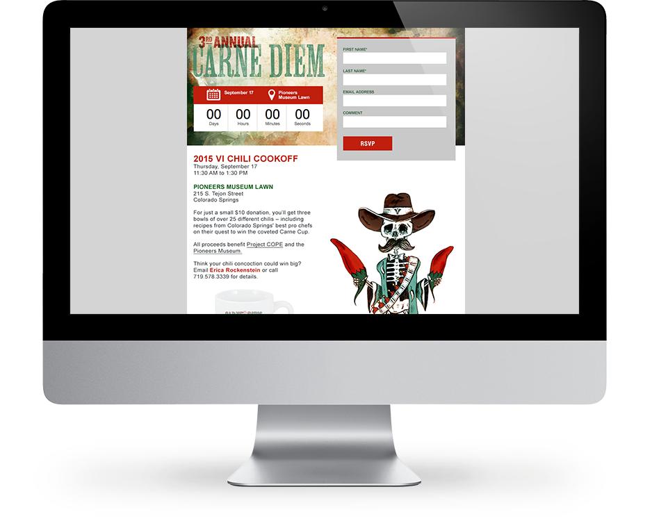 Our work: Carne diem website