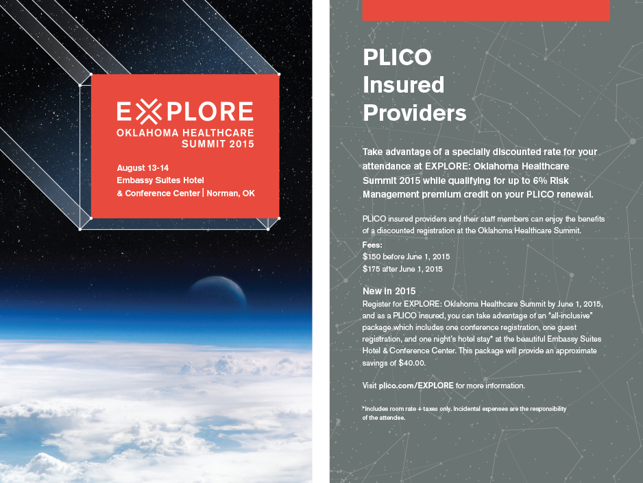 Our work for PLICO: Information about the 2015 Oklahoma Healthcare Summit