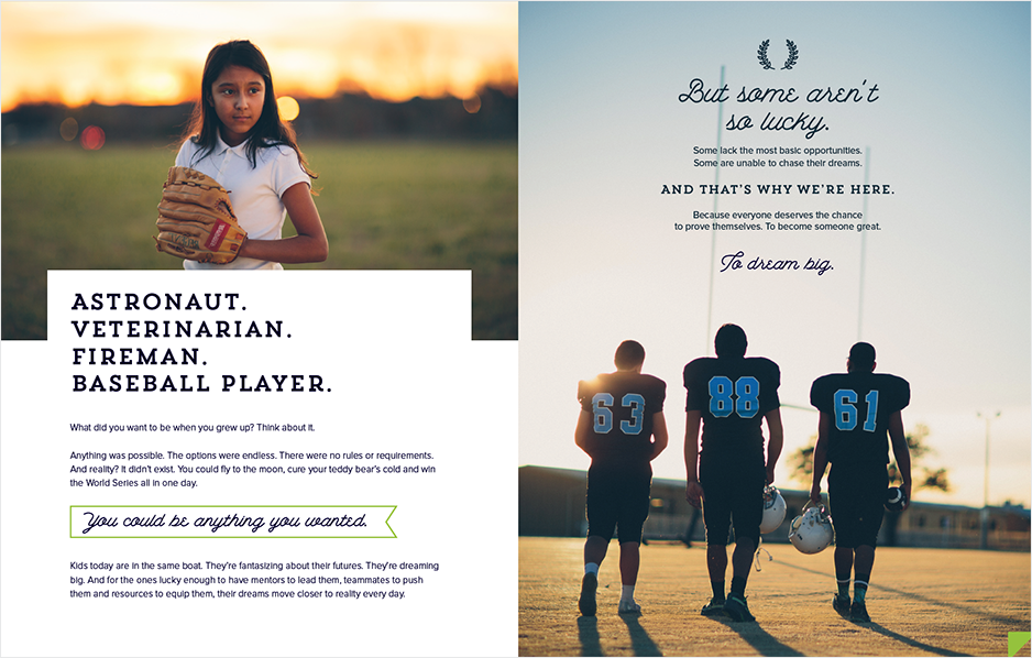 Our work: Fields and Futures dream big spread
