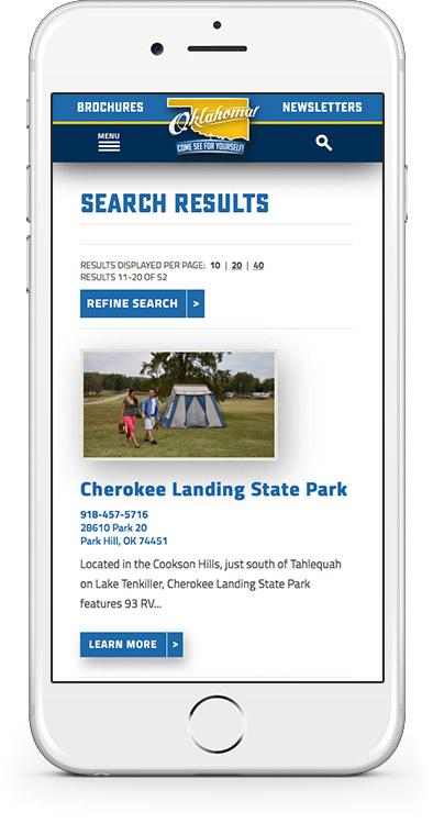 TravelOK Website Mobile 2
