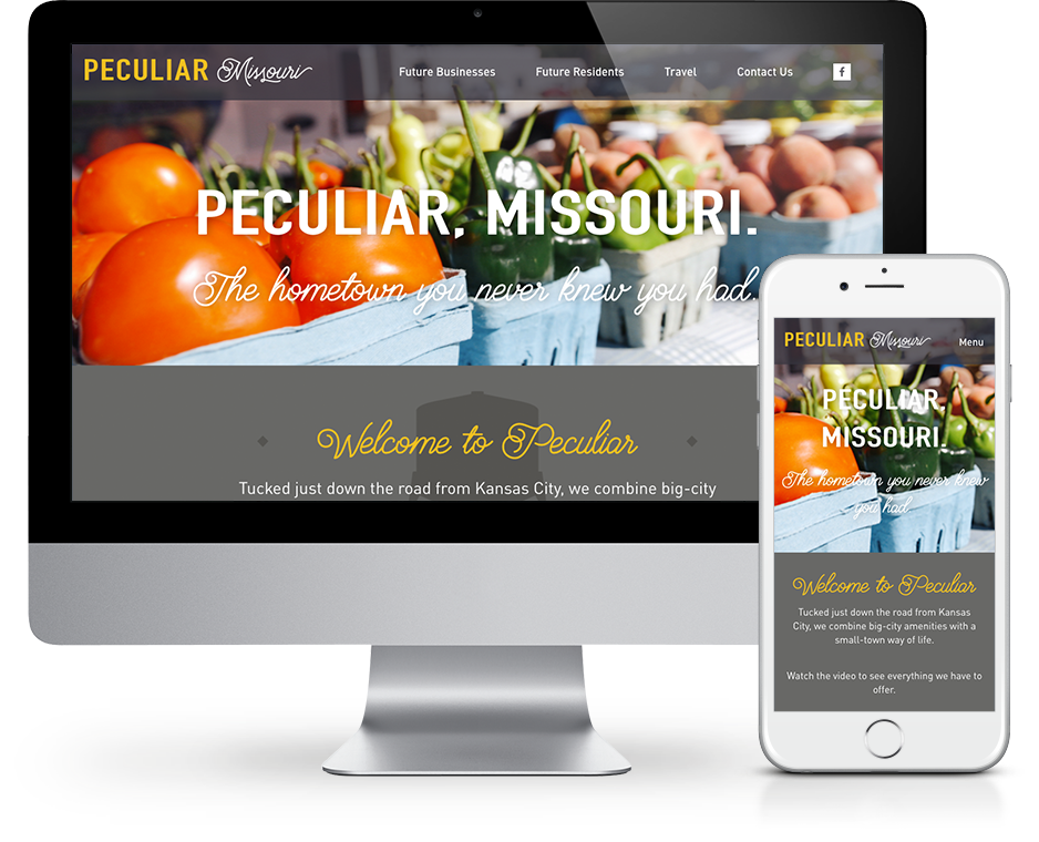 Our work: New website for Peculiar, Missouri.