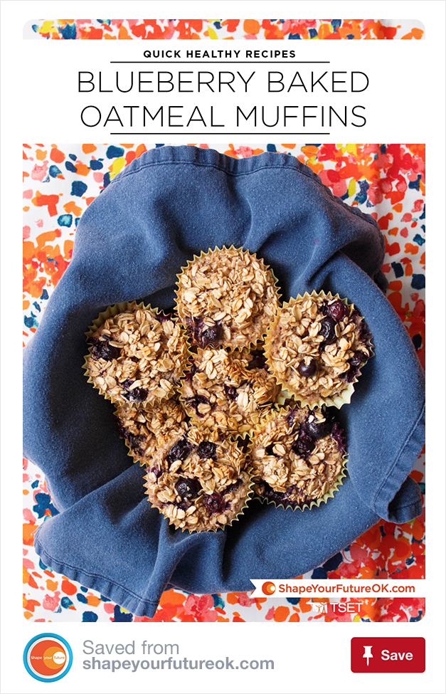 Blueberry Baked Oatmeal Muffins